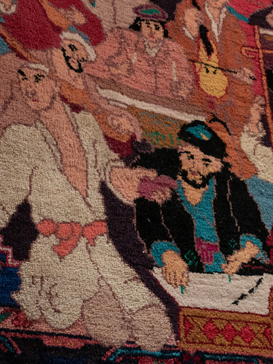 Silk-rug